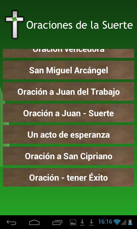 Oraciones de la buena suerte aplicaciones android en - Para la buena suerte ...