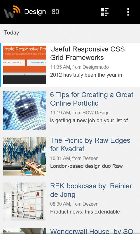 WebReader News RSS Reader- screenshot