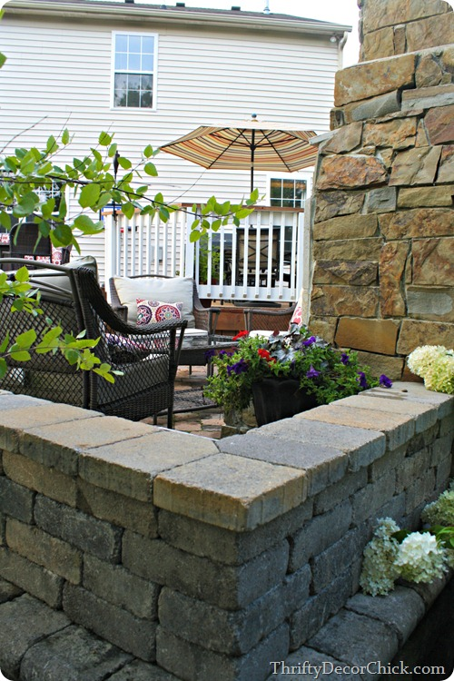 stone patio off deck