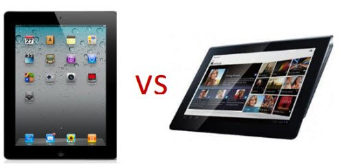 de tabletas Sony Tablet™ S vs iPad 2