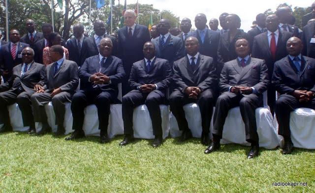 Le président de la RD Congo, Joseph Kabila, à la Conférence internationale pour la région des Grands Lacs (4e à partir de la droite)