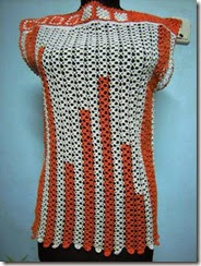 crochet top orange 1