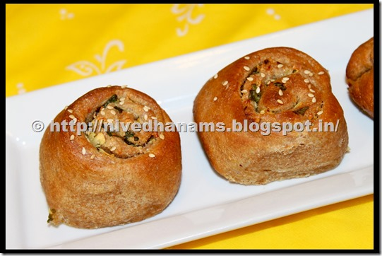 Whole Wheat Garlic Buns - IMG_3496