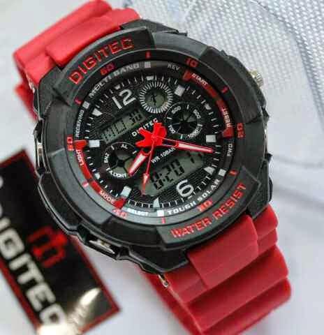 Jual jam tangan Digitec DG2013T red black