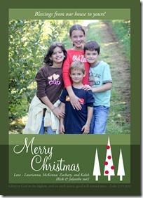 Little Card Company Christmas photo card