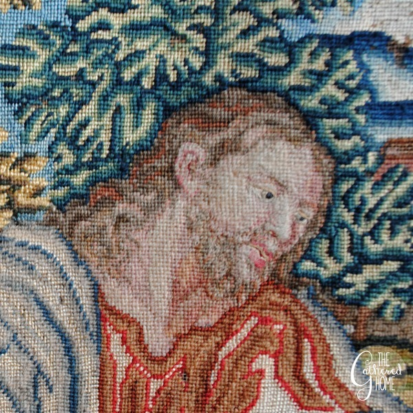 woman at the well vintage needlepoint tapestry 6