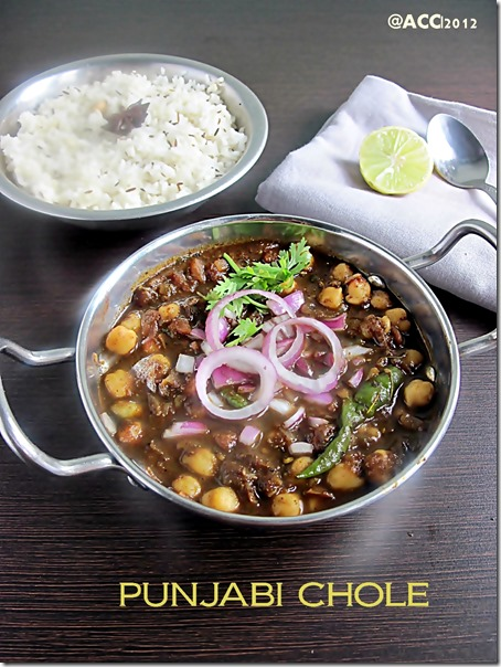 Punjabi lunch menu indian state recipes chitras food book punjabi chole should be dry i made it slightly watery to suit our taste forumfinder Gallery