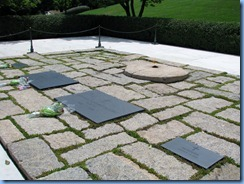 1442 Arlington, Virginia - Arlington National Cemetery - President J. F. Kennedy Gravesite with eternal flame