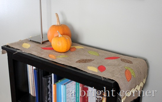 """Fallen Leaves"" Table Runner tutorial"