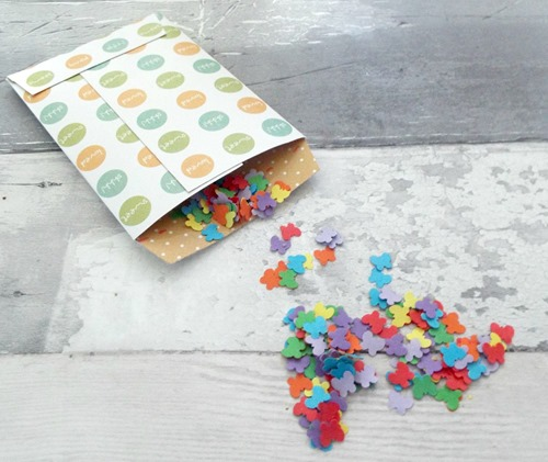 How to make your own confetti butterfly confetti