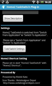 Home2 TaskSwitch screenshot 1
