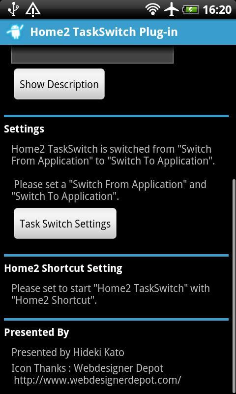 Home2 TaskSwitch- screenshot