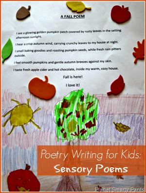 Poetry Writing for Kids: How to write sensory poems.