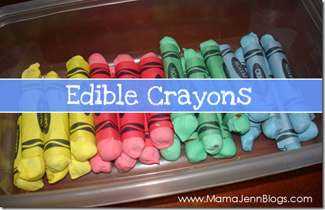 Edible Crayons (made from pretzels)