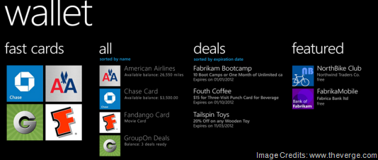 Windows Phone 8 Wallet Hub