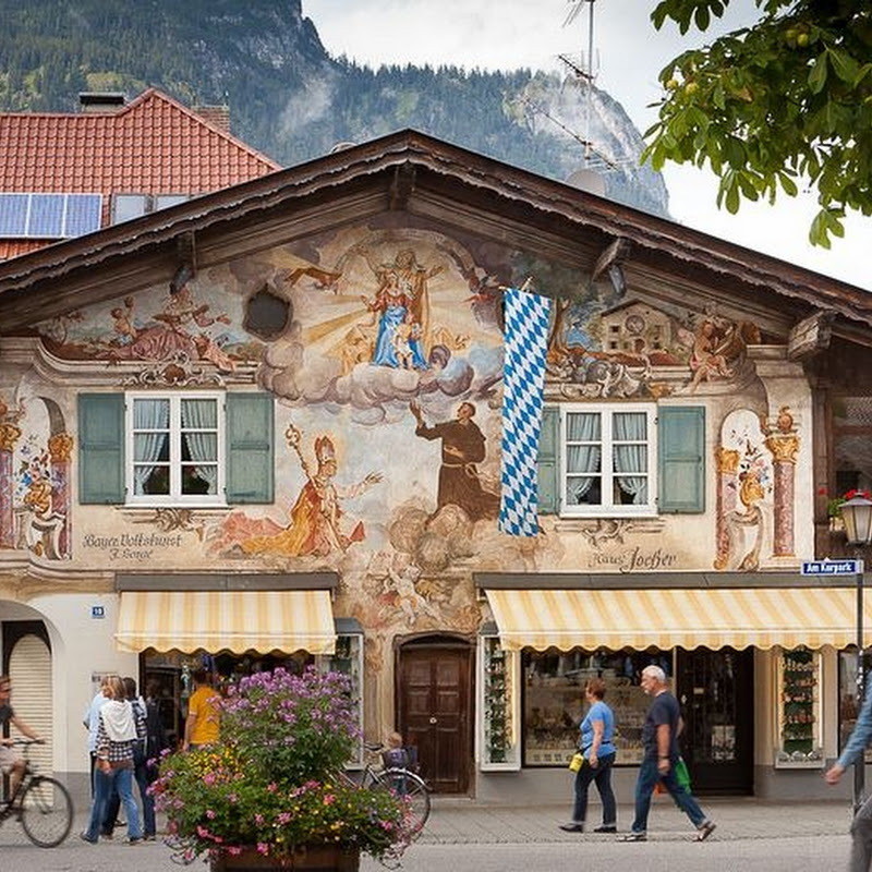 The Beautiful Alpine Town of Garmisch-Partenkirchen, Germany