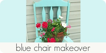 blue chair makeover