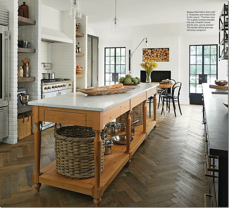 4 Elements Could Bring Out Traditional Kitchen Designs: COTE DE TEXAS: Masculine Design In A Feminine House