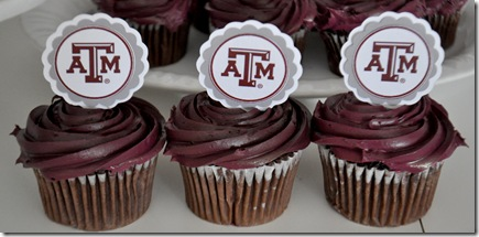 TEXAS A&M CUPCAKE TOPPERS