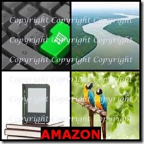 AMAZON- 4 Pics 1 Word Answers 3 Letters