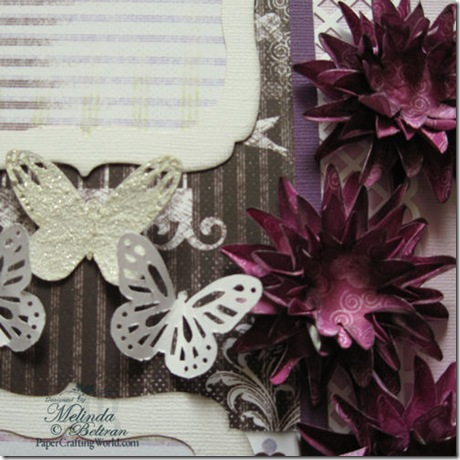 Quick Quotes Cricut Butterflies Flowers layout close up 500