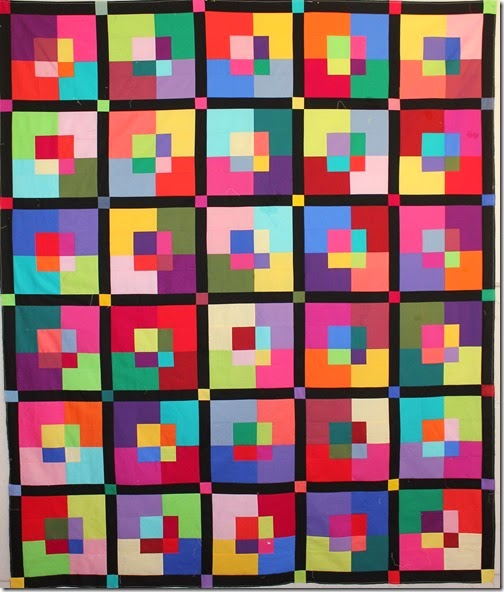 Slashed Squares Amish Quilt