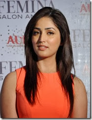 Actress Yami Gautam in Light Red Dress Pictures