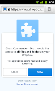 Dropbox for Ghost Commander