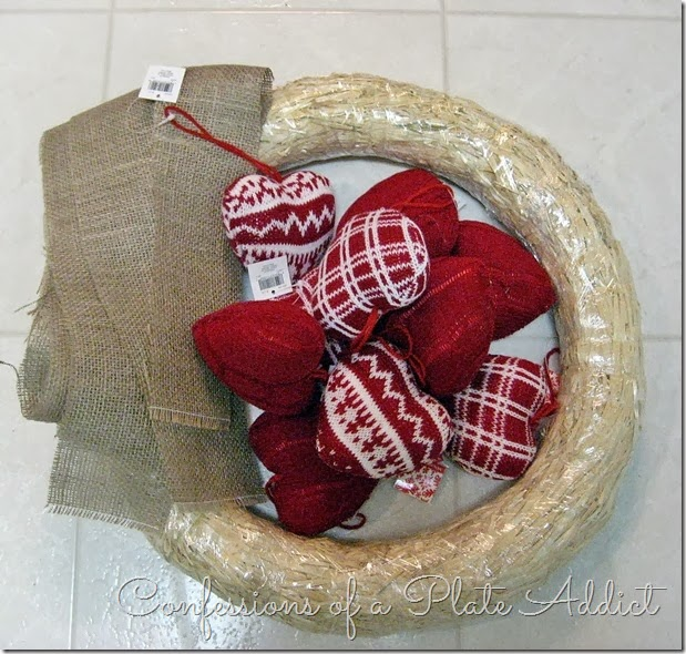 CONFESSIONS OF A PLATE ADDICT Rustic Valentine Wreath Supplies
