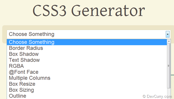 DevCurry: CSS3 Code Generation Tools That Save Time
