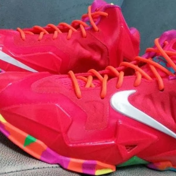 bc463214ebab3 ... Nike LeBron XI 11 GS 8220Fruity Pebbles8221 8211 First Look ...
