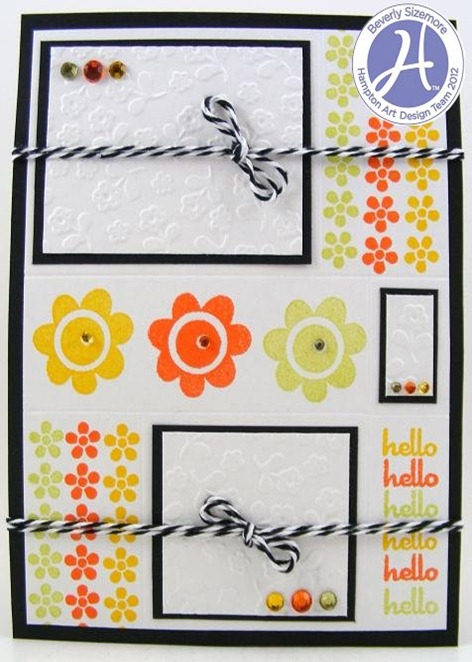 Beverly Sizemore Hampton Art January Project Three Hello Card