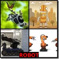 ROBOT- 4 Pics 1 Word Answers 3 Letters