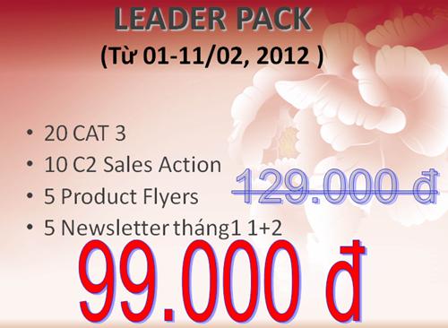 Leader Pack giảm giá còn 99.000đ