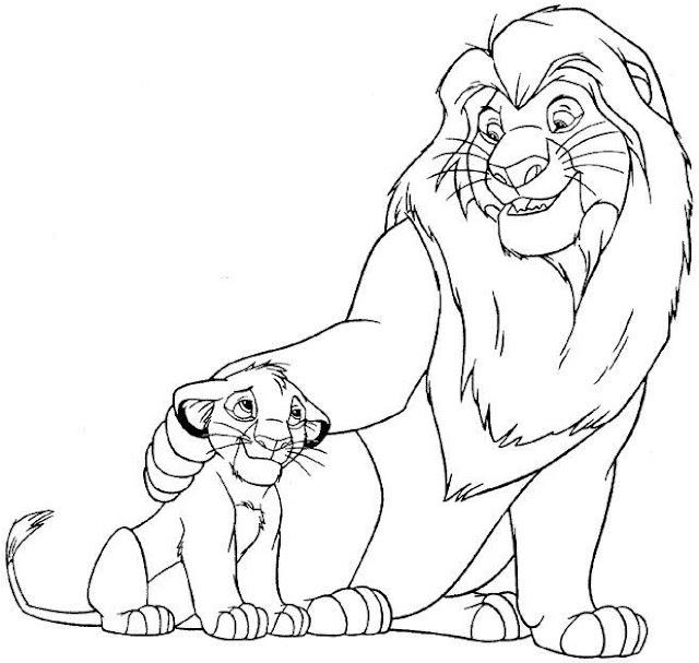 El Rey Leon Dibujos Disney Para Colorear