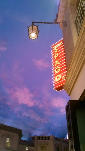 [写真]夕飯を食べたForum Shop内の「SPAGO」