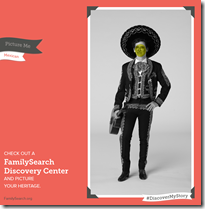 Familysearch Discovery Centre  - 在历史的服装的照片