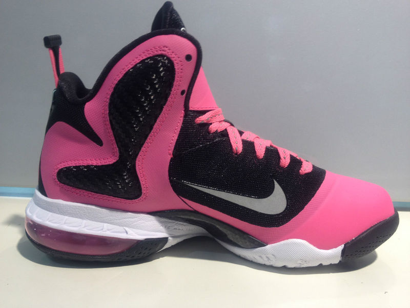 buy popular 69462 3851a ... Actual Photos of Nike LeBron 9 GS 8220Pink Silver Black8221 ...