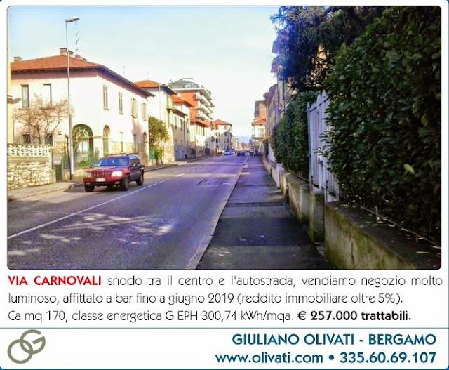 Bergamo vendita negozio da reddito