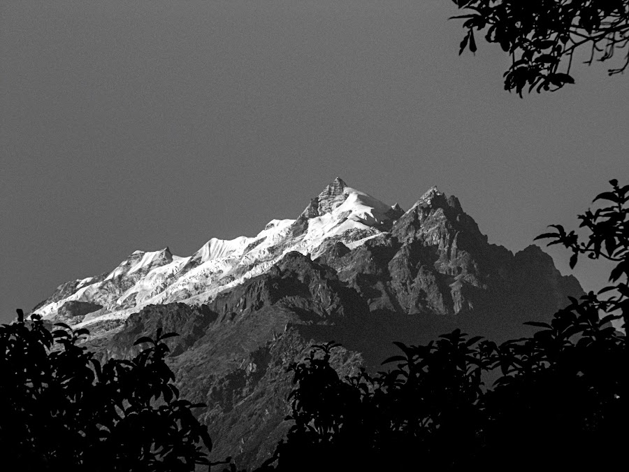 Shining at the dusk by Caesar Jees - Black & White Landscapes ( mountain, nature, black and white, peak, silhouette, landscape )