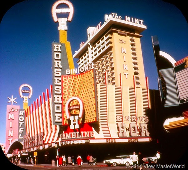 View-Master Las Vegas Nevada A159 Scene 1-3 Horseshoe Club and the Mint Hotel