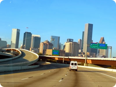 driving through houston