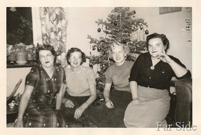 Evelyn Esther Jean and Beryl 1955 Christmas