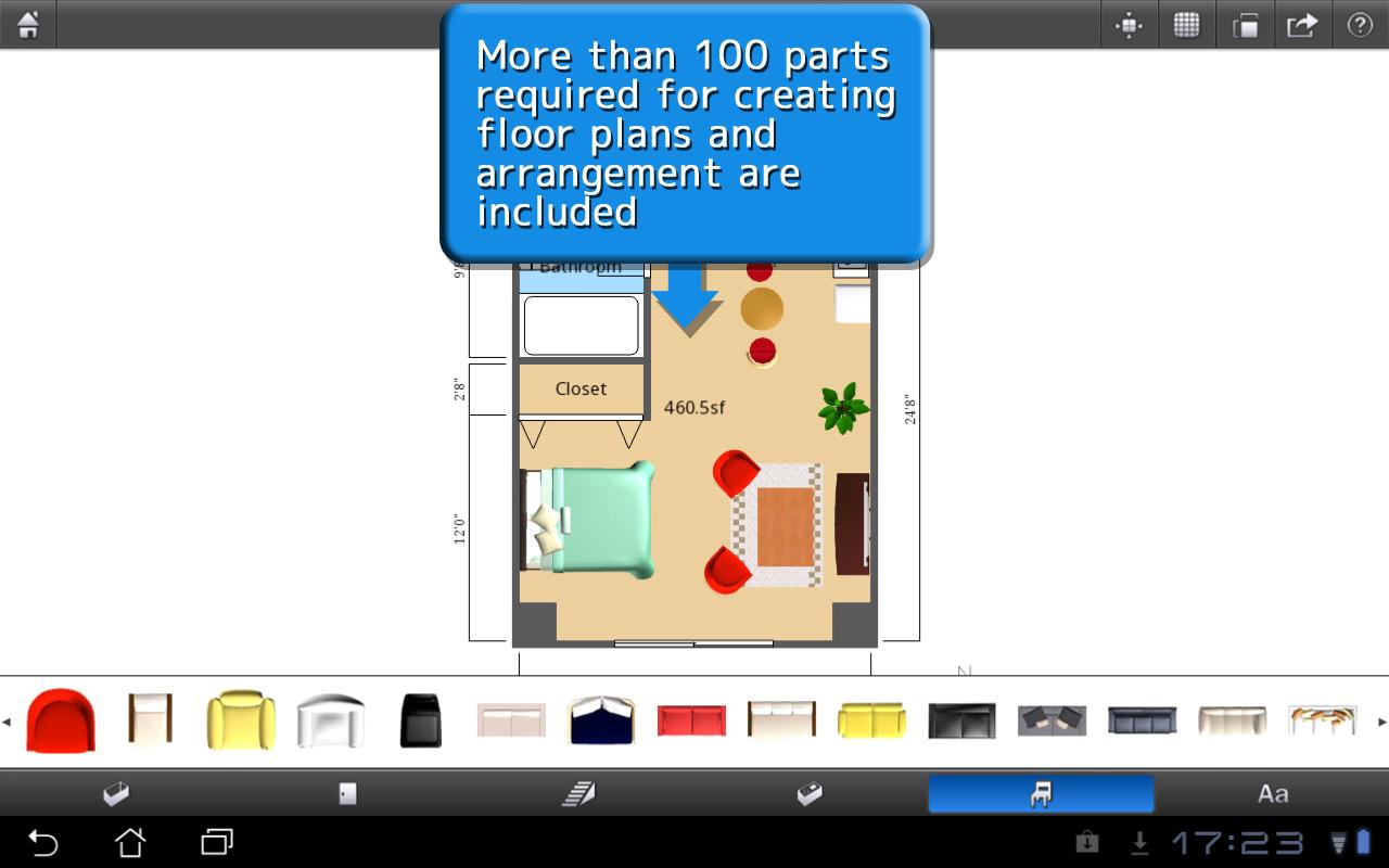 ROOM+ for Tablet [Floor plans] - screenshot