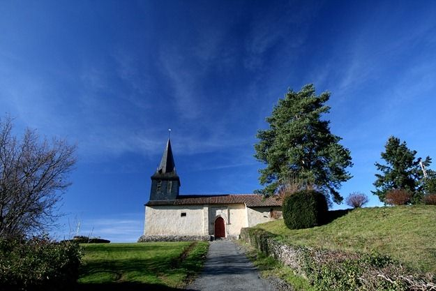Church near Chateau Lastours