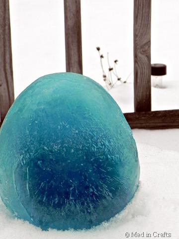 blue ice lantern