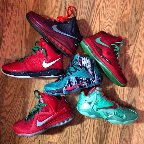 online retailer 3f14c 23e7c Christmas 12's On-Feet Look & LeBron 7-12 Group Photo | NIKE ...
