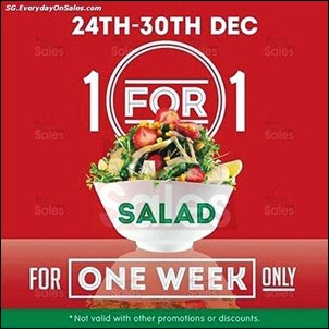 4239a07fe8c446 24-30 Dec 2013  Munch SaladSmith 1-For-1 Promotion for Salad