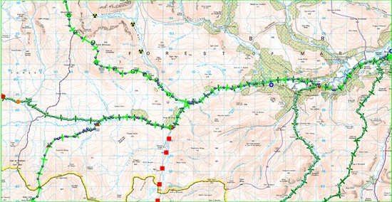 TGO CHALLENGE 2011 MAP DAY 8
