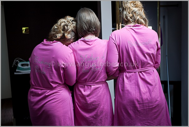 bridal party photography scotland